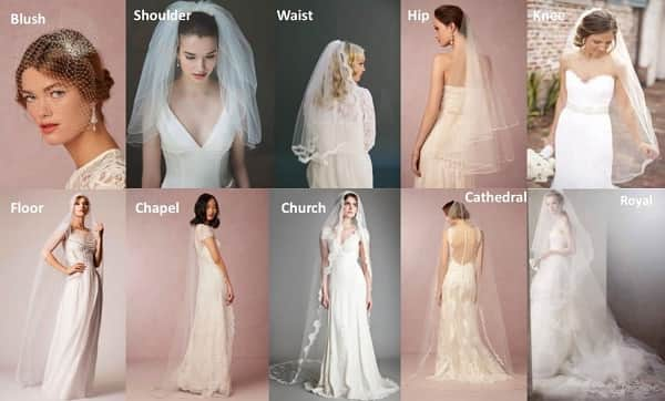 Different Types Of Wedding Veils