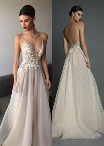 Deep V Evening Gowns