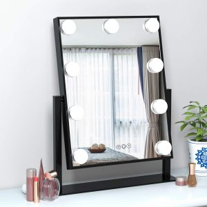 Tabletop Lighted Vanity Mirror by FENCHILIN