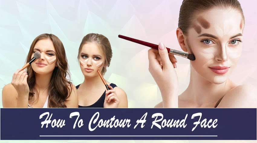 how to contour round face with double chin