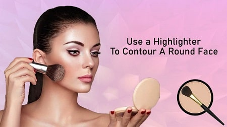 how to make a round face look slimmer with makeup
