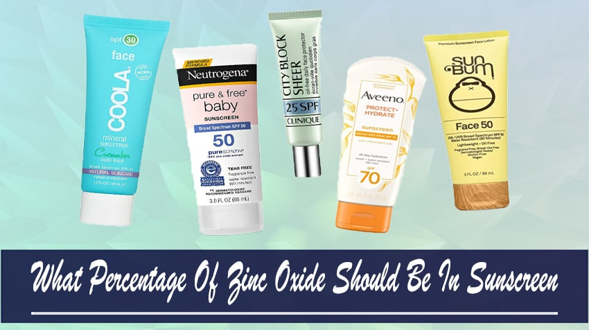 how much zinc oxide should be in your sunscreen