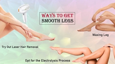 how to make your legs smooth and shiny