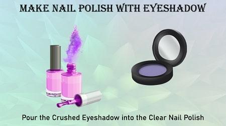 Make Nail Polish with Eyeshadow